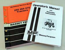 MASSEY FERGUSON MF 255 265 275 TRACTOR OPERATORS OWNERS SERVICE REPAIR MANUAL