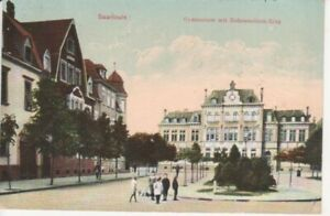 Saarlouis Gymnasium mit Hohenzollern-Ring gl1914 93.488