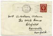 """1936 cover with ST KILDA d.s. + """"RESEARCH STEAMER/ EXPLORER"""" cachet to Norwich"""