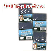 100 TOPLOADER Premium Ultra Pro NEW Top Loaders Card Storage
