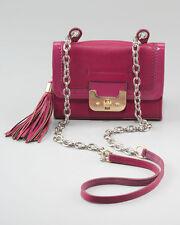 NEW $345 DVF Diane Von Furstenberg Wineberry Mini Harper Leather Crossbody Purse