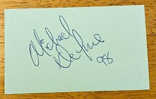 Michael Deluise Signed Autographed 3x5 Index Card 21 Jump Street NYPD Blue