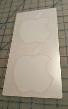 Genuine OEM Apple White Logo Sticker Decal 1 Pack 2 Stickers Mac