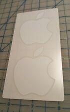 Genuine OEM Apple White Logo Sticker Decal 1 Pack 2 Stickers Mac