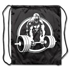 Gorilla Lifting Weightlifting Drawstring Bag by Spreadshirt™ One size black