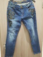 Desigual Jeans Deutsch 42 Inch 34 Länge 30 Hose blau