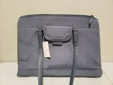 Vera Bradley Iconic Commuter Tote Faux Leather Trim - Charcoal