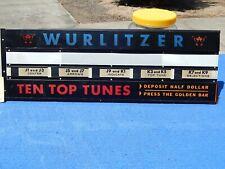 Wurlitzer 2700 2710 Display Cards # 122403, # 122619 & # 122492