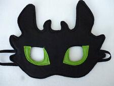 Hecho a mano sin dientes Dragon Máscara para los niños, juegos de rol, vestirse. gran Regalo