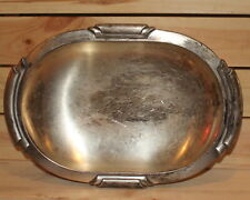 Vintage metal pedestal bowl