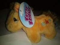 "RARE FUZZY FRIENDS 7"" PONY PLUSH STUFFED ANIMAL NWT ALL AGES"