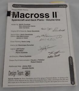 Signed Macross II Spacecraft & Deck Plans Volume 1 Manuscript Autographed