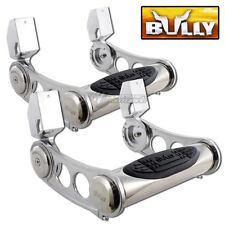"2PCS UNIVERSAL 3"" TUBE CHROME BULLY HEIGHT ADJUSTABLE TRUCK NERF SIDE STEP BAR"