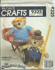 "M 9325 sewing pattern 13"" Mama Papa BERENSTAIN BEARS & CLOTHES Stuffed TOY DOLLS"