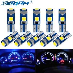 10pcs T5 Led Bulb W3 W1.2 Led Canbus Car Interior Lights Dashboard free shipping