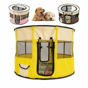 Outdoor Dog Cat House Small Large Breathable Portable Tent Foldable Round Pet
