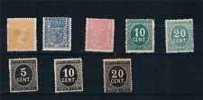 España. Conjunto de 8 sellos nuevos y diferentes de Alfonso XIII Valor 94.75 Eur