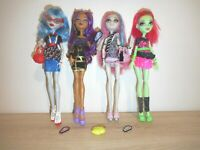 MONSTER HIGH GHOULIA,CLAWDEEN, ROCHELLE, VENUS GHOUL'S NIGHT OUT