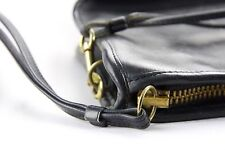 Coach-Vintage-Authentic Black Leather Hand-Crossbody-Shoulder Bag-Purse-Ny-Usa!