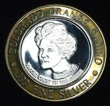 COLORADO GRANDE CASINO .999 FINE SILVER STRIKE - PIONEERS OF CRIPPLE CREEK