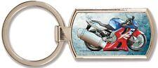 Honda CBR 600F Caricature Design - Metal Rectangle Keyring - Koolart - 1193
