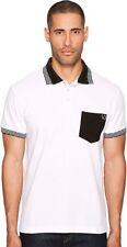 Versace Jeans Men's Contrast Pocket Polo White Medium