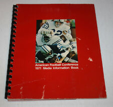 Vintage 1971 NFL AFC Media Guide Book   Indianapolis Colts