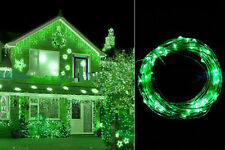 20 LEDs Green String Copper Wire Fairy Lights Battery Powered Waterproof
