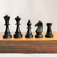 Staunton soviet chess 50s  Wooden russian chess set Vintage USSR