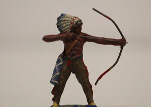 Elastolin Masse Indianer Bogenschütze stehend  7,5 cm Serie