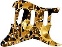 Stratocaster Pickguard Custom Fender SSS 11 Hole Guitar Pick Guard Clockwork 1
