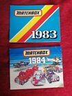 MATCHBOX TOYS POCKET CATALOGUES 1983 & 1984 - Vintage Original Booklets toys