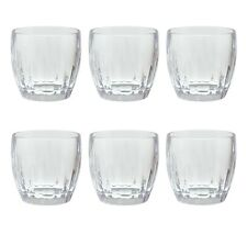 QG 15 Ounce Plastic Heavy Weight Wine Glass Tumbler Set of 6 Clear