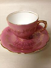 Vintage-Antique Spencer Stevenson Bone China Rose/Pink Cup & Saucer Set England