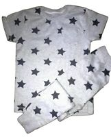 "Boys & Babies ""Next"" PJs, Pyjama Set, Long Leg, Grey Star Print 9/12m-3/4 yrs"