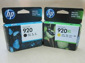 [1302*] HP 920XL YELLOW and HP 920 Black Inks  ( RRP>$70 )