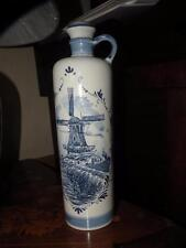 BOLS DELFT HAND PAINTED POTTERY BOTTLE decanter Holland windmill zenith jug