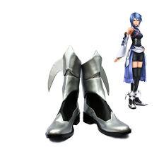 Kingdom Hearts Birth by Sleep Aqua Cosplay Shoes Silver Boots Handmade