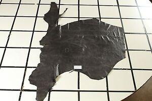 "Beautiful ""San Marino Steel Blue"" Scrap Leather Hide Approx. 10.5 sqft. B16A17-7"