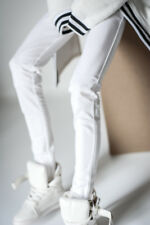 White Leggings Jeans pants Outfits For Male 1/4 17in 44cm BJD MSD AOD AS DOLL