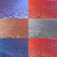Jacquard Brocade Upholstery Dressmaking Fabric, Gold, Silver, Blue, Pink, Orange