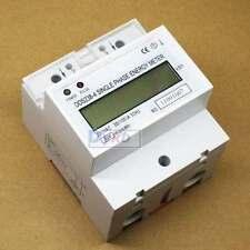 LCD Kilowatt Hour kWh Single-phase rail type electronic energy meter AC 220V