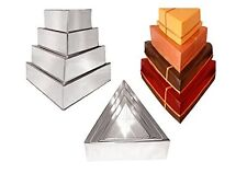 "4 Tier Professional Triangle Wedding Cake Tins 6"" 8""10""12"""