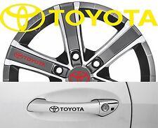 4 x Türgriff- Felgen Aufkleber Toyota 002 #1509
