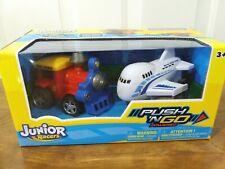 JUNIOR RACERS Train Engine & Airplane Push 'N Go Powered - 2 Pk.