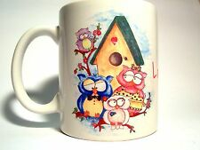The Three Merchants - Mug Ceramic With Handle - Family By Owls With Mansion