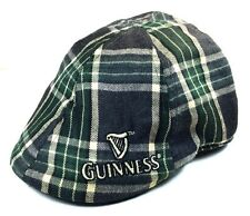 GUINNESS GREEN PLAID IVY HAT CAP HARP LOGO NEWSBOY GATSBY DUCKBILL CABBIE GOLF