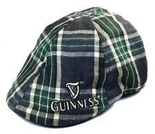 GUINNESS GREEN PLAID IVY HAT CAP HARP LOGO NEWSBOY GATSBY DUCKBILL CABBIE GOLF