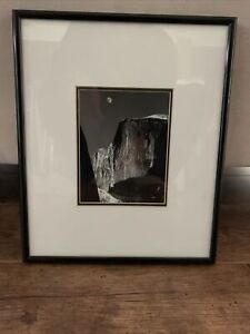 "Ansel Adams, ""Moon and Half Dome"" 12x10 inch Framed Art Print Double Matting"