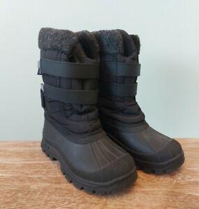 Boys/Girls Tresspass Winter Mud Snow Walking Snow Boots Size UK 11 Kids Black